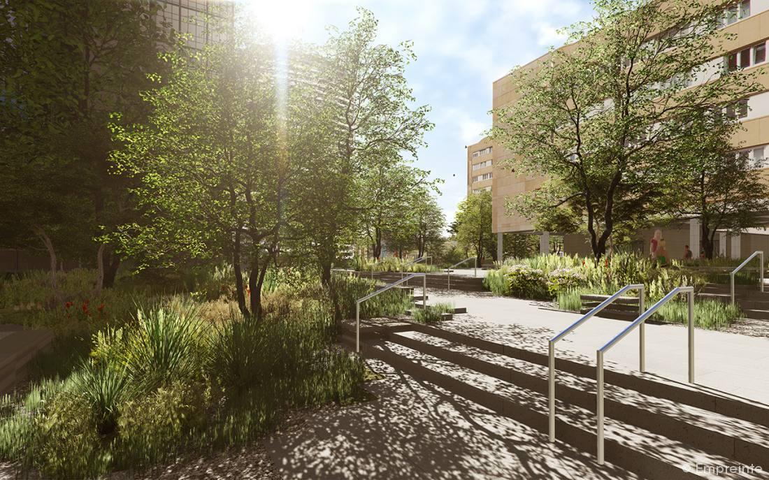 Le projet de la d fense en vid o empreinte bureau de for Agence empreinte paysage