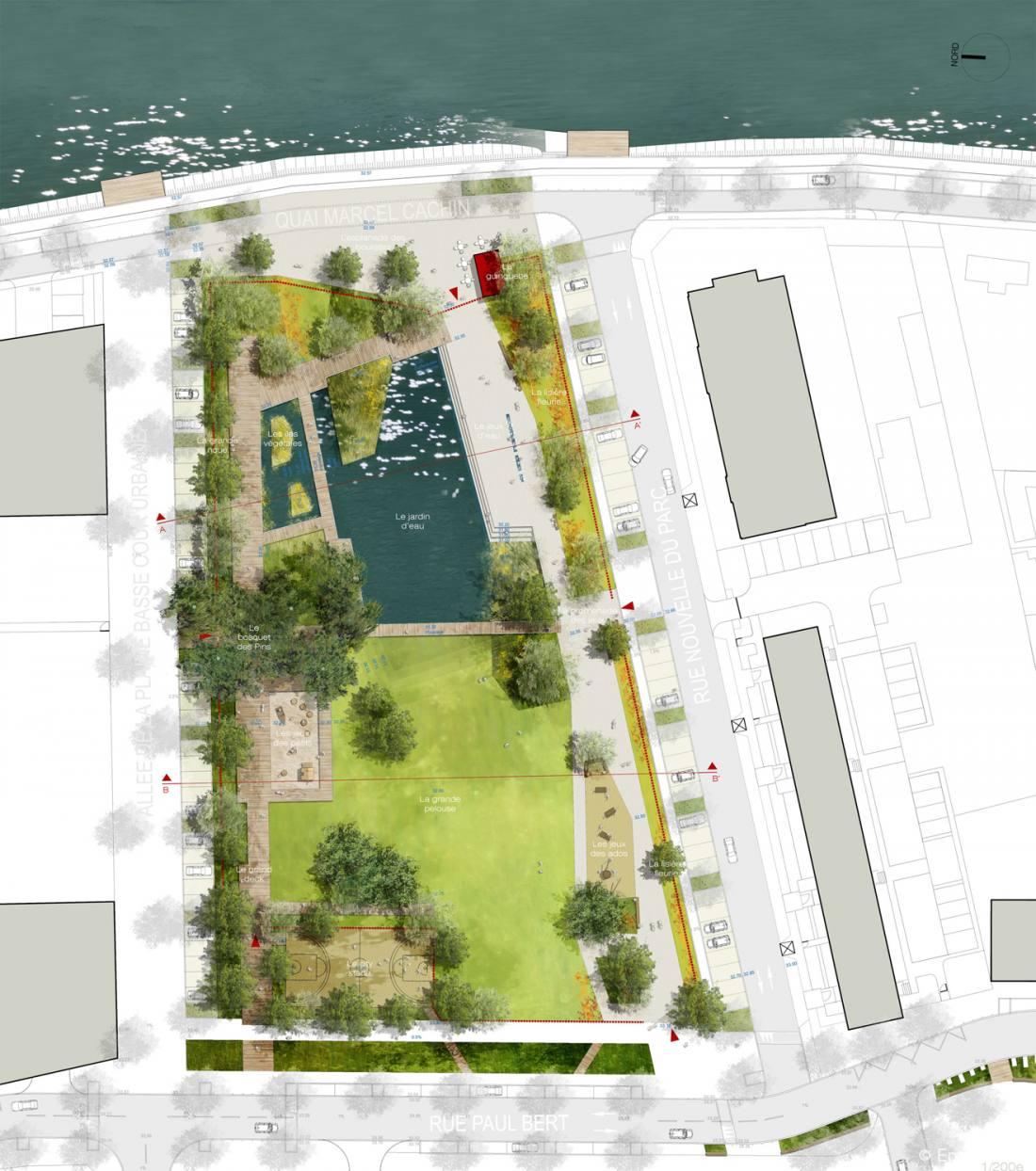 Parc du bord de l eau empreinte bureau de paysages for Agence empreinte paysage