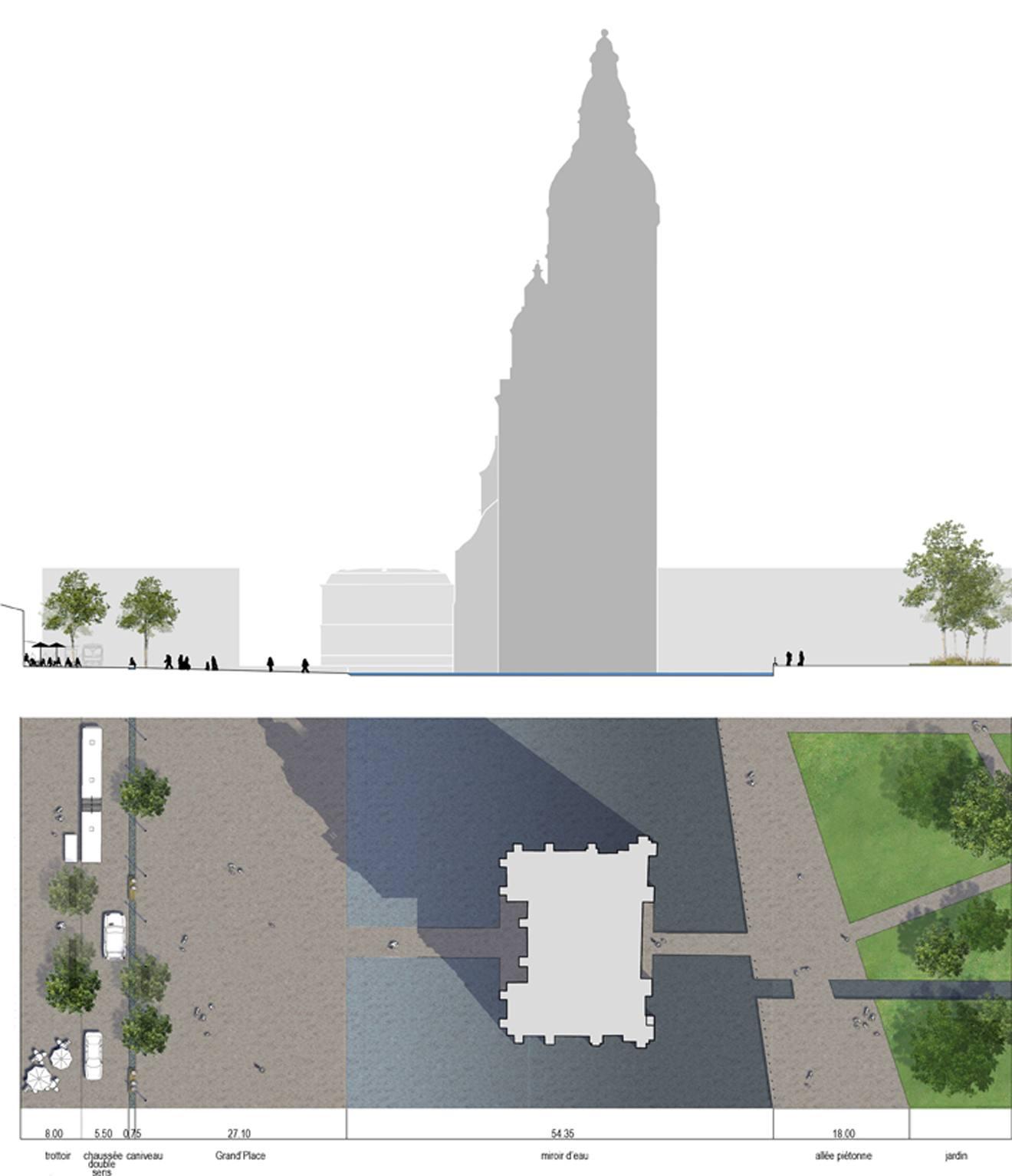 R novation du coeur de ville empreinte bureau de paysages for Agence empreinte paysage