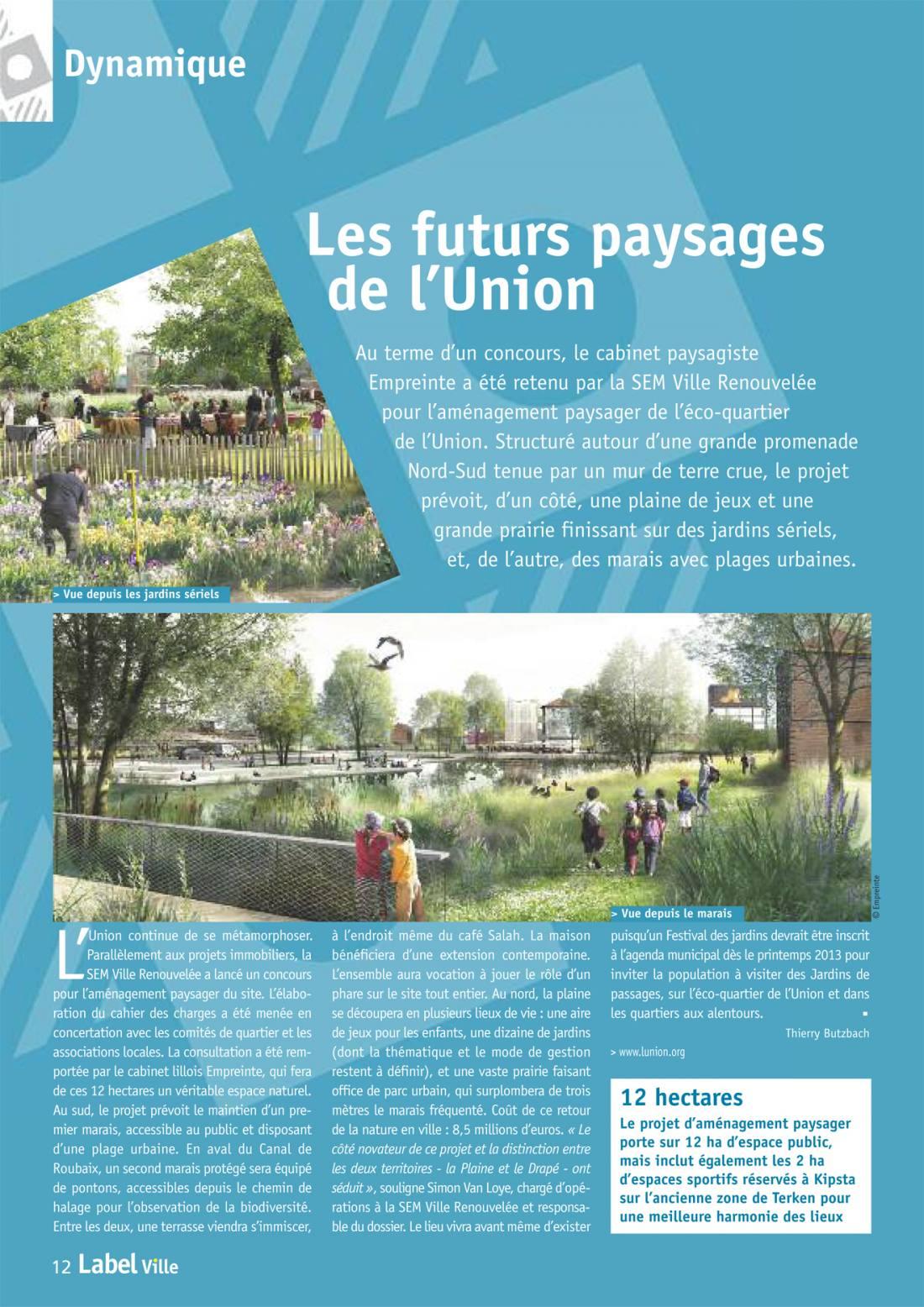 Parc de l 39 union le moniteur empreinte bureau de paysages for Agence empreinte paysage
